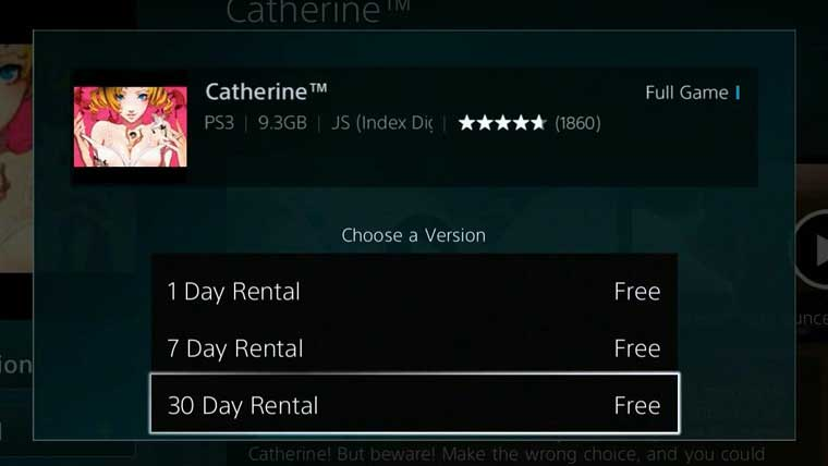 Rentals Appear On PlayStation Store