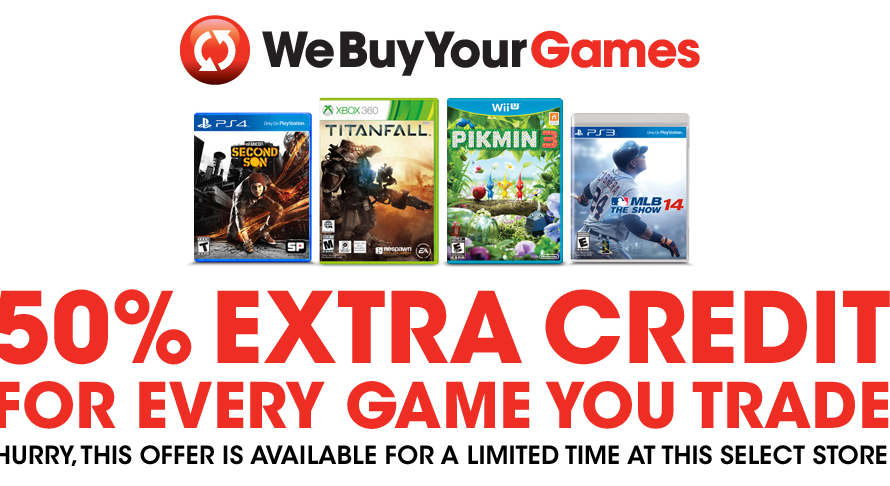 your local gamestop may be giving 50 trade in bonus this weekend