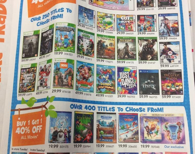 Toys R Us Has Brought Back Buy One Game Get One 40% Off Sale This Week