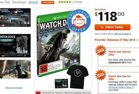Free Watch Dogs T-Shirt With Mighty Ape Pre-Order
