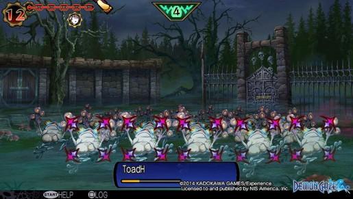 Demon Gaze frog rampage