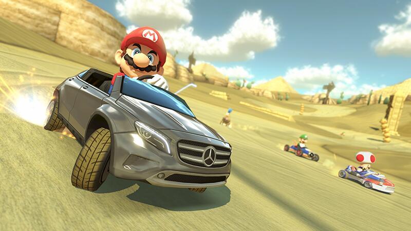 Mario Kart 8 Will Receive Free Mercedes Kart DLC In Japan