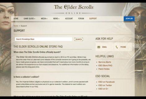 The Elder Scrolls Online Console Version Delayed By Six Months