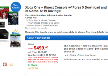 Walmart.com Is Offering Two Game Xbox One Bundle for $500