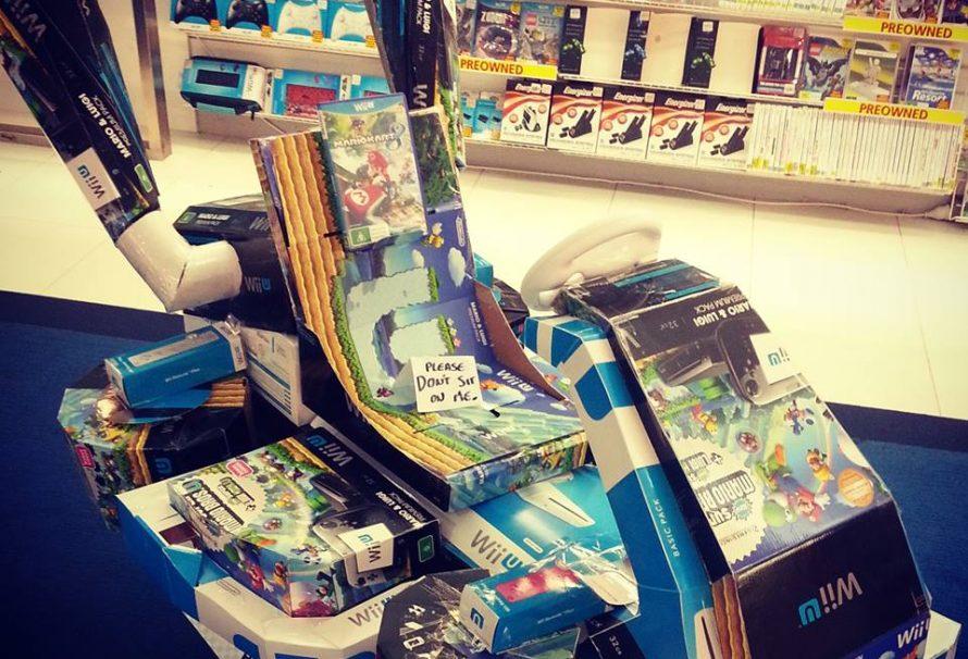 EB Games Makes Mario Kart 8 Kart From Boxes