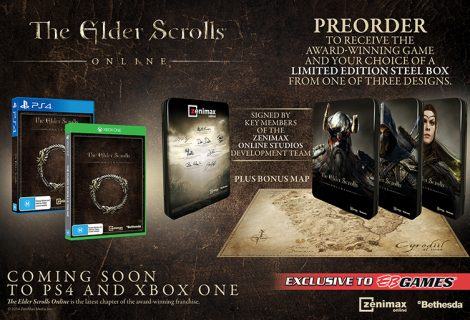 EB Exclusive The Elder Scrolls Online PS4/Xbox One Editions Announced