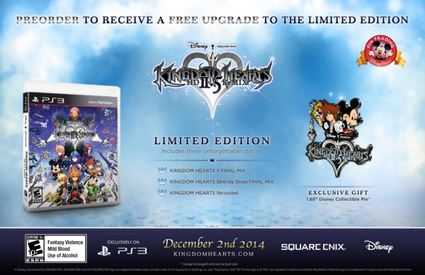 Kingdom Hearts HD 2.5 Remix pre-oder bonus detailed