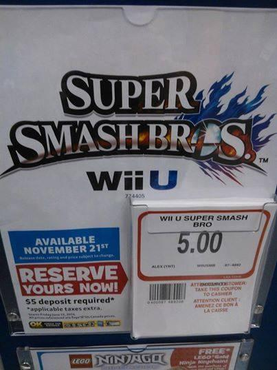 Super Smash Bros For Wii U Release Date Possibly Leaked