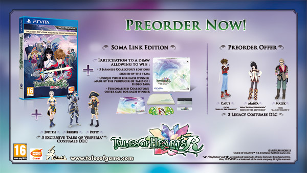Tales of Hearts R Day One Edition Announced for Europe