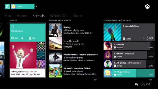 Xbox One October Dashboard