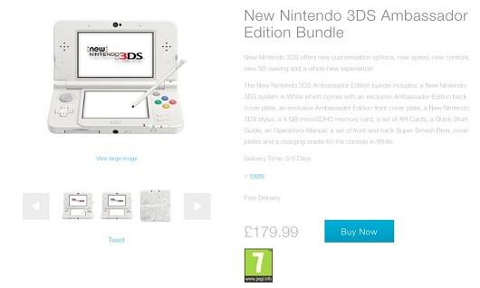New Nintendo 3DS 'Ambassador Bundle' revealed for EU