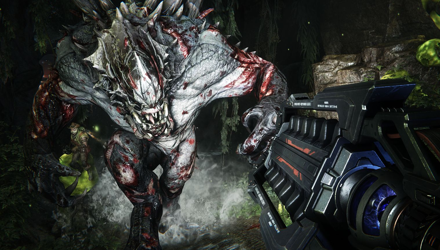 check out the various modes and monsters in evolve just push start
