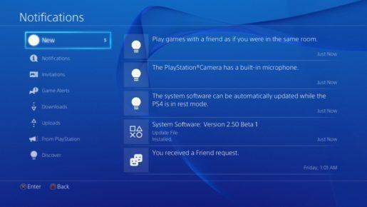 ps4 beta firmware