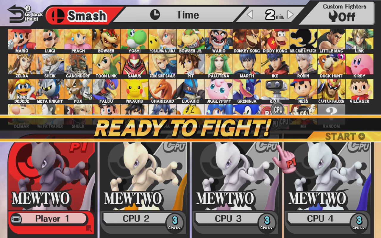 check out mewtwo in super smash bros for wii u and 3ds just push
