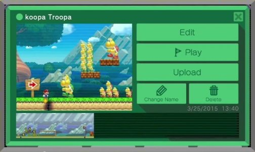 mario maker upload