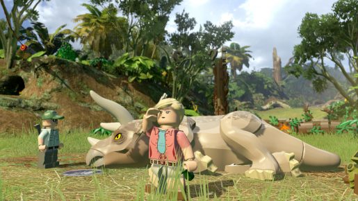 lego jurassic world dino down