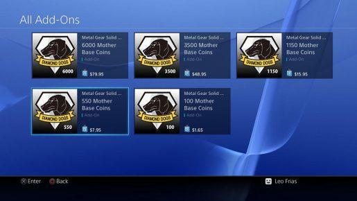 Metal Gear Solid 5 Pricing