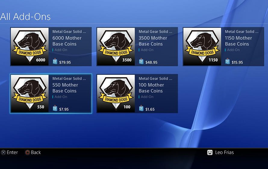 Metal Gear Solid 5: The Phantom Pain Microtransaction Pricing Unveiled