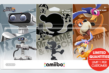 Amiibo Retro 3-Pack is Still Available at GameStop
