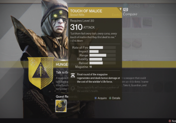 Destiny - How to Obtain the Touch of Malice Exotic Scout Rifle