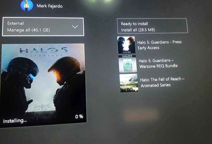 Halo 5: Guardians Requires a Huge Amount of Hard Drive Space