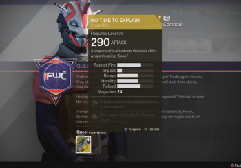 Destiny - How to Obtain the No Time to Explain Exotic Pulse Rifle