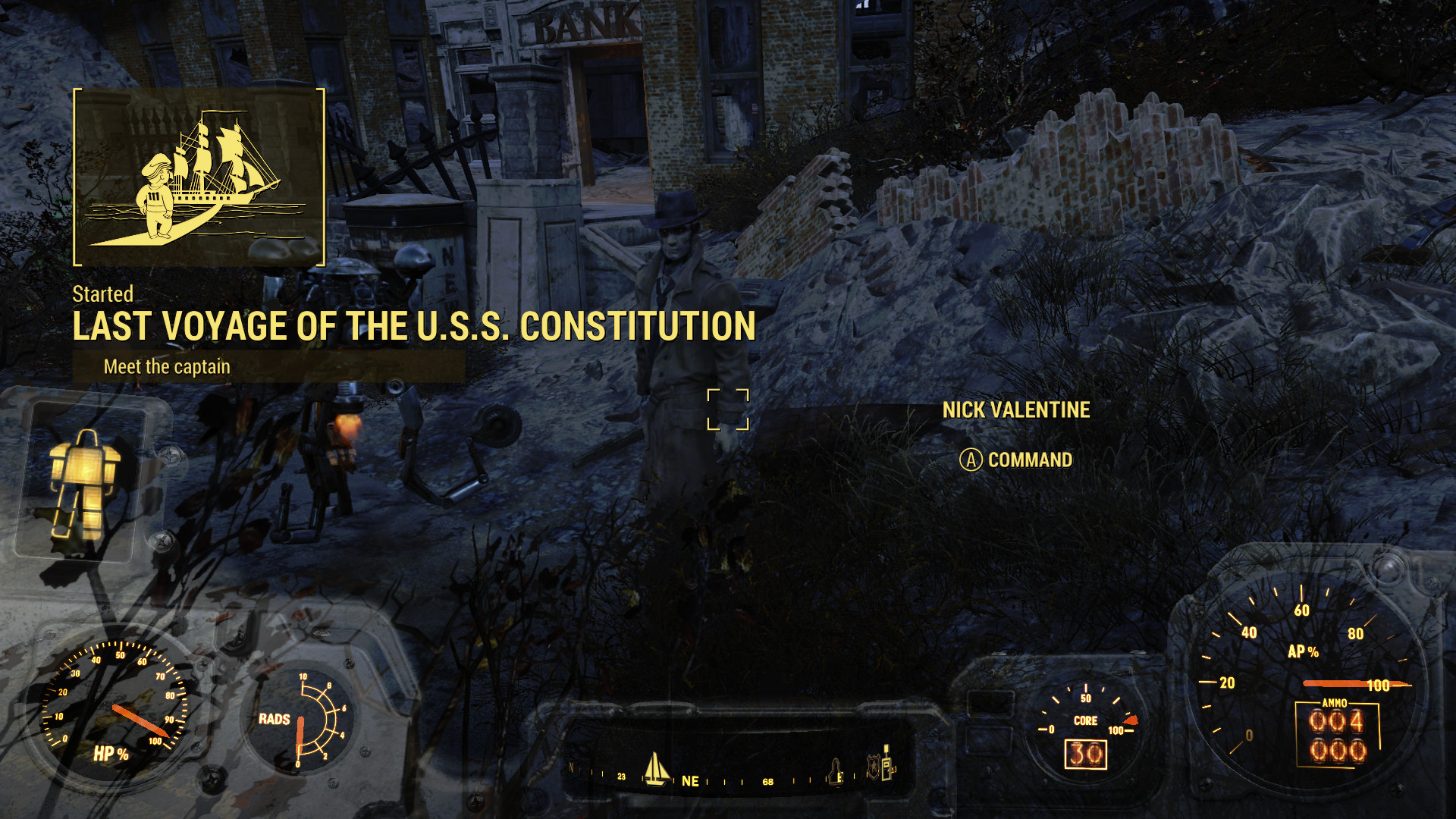 Fallout 4 Guide – Last Voyage of the USS Constitution & the ferocious Broadsider