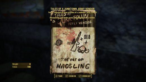 Fallout 4 Tales Junktown Vendor