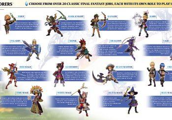Final Fantasy Explorers 21 Job Classes Detailed