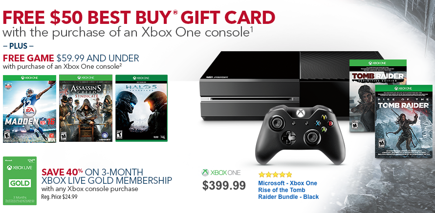 Get the best 'Xbox One Bundle' deal at Best Buy this week