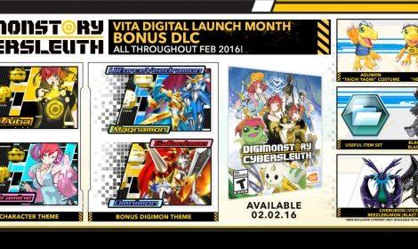 Digimon Story: Cyber Sleuth Bonus DLC for PS Vita detailed