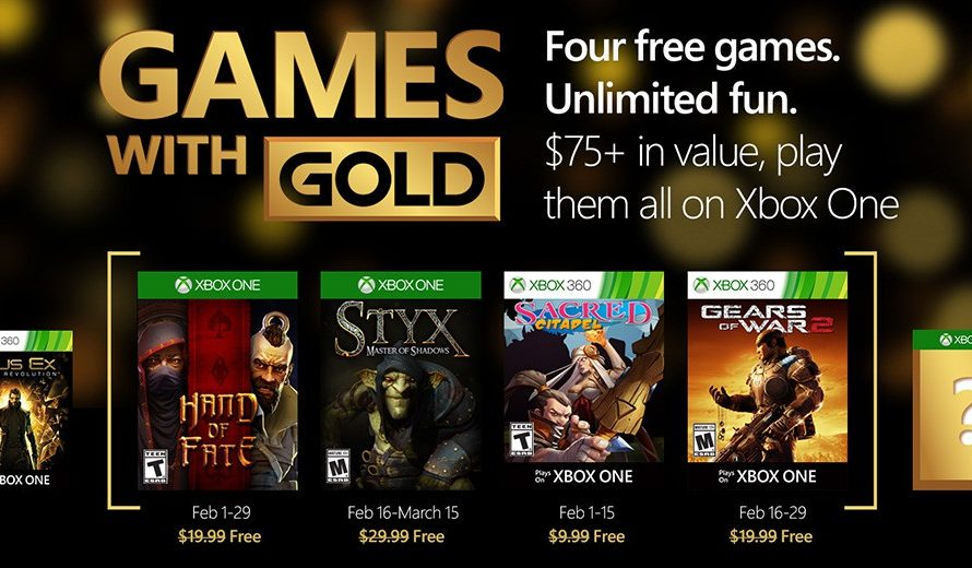 Xbox Live Games with Gold for February 2016 revealed