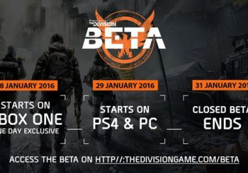 The Division beta begins January 28 on Xbox One and January 29 for PC/PS4