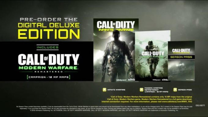 Call of Duty 4: Modern Warfare Remastered Details Unleashed; Included With Special Editions Of Infinite Warfare