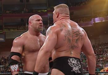 Brock Lesnar Challenges Goldberg In WWE 2K17 Video