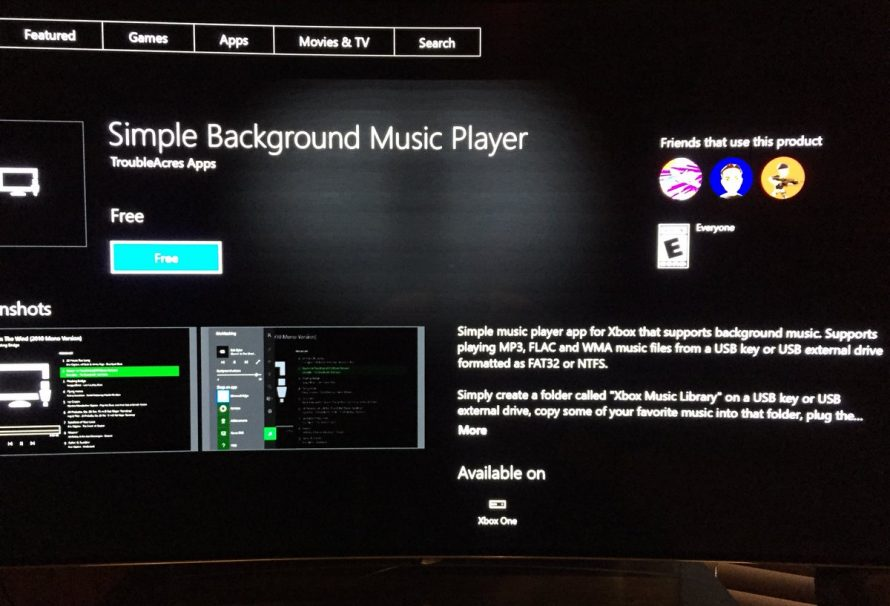 Xbox One USB Background Music App Now Available To Download