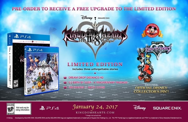 Kingdom Hearts 2.8 HD Limited Edition detailed