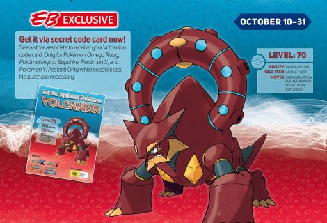 Get the Mythical Volcanion at your local GameStop