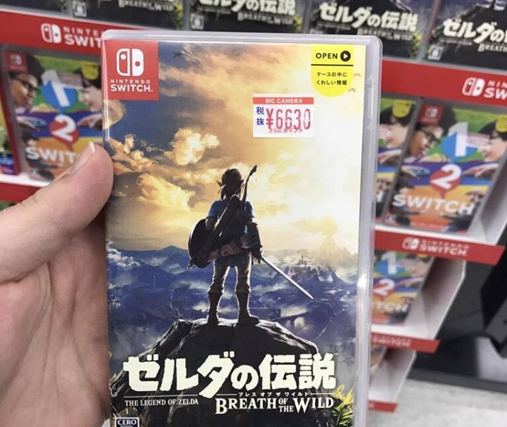 First Photos Of Nintendo Switch Game Cases In Japan