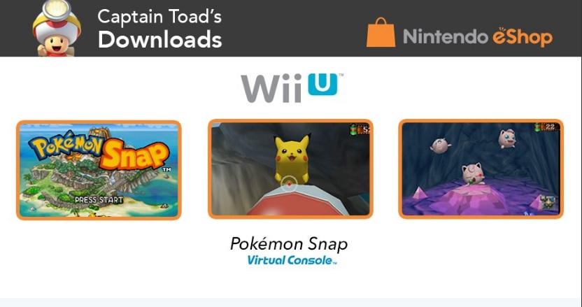 Pokemon Snap Now Available On Wii U Virtual Console In North America