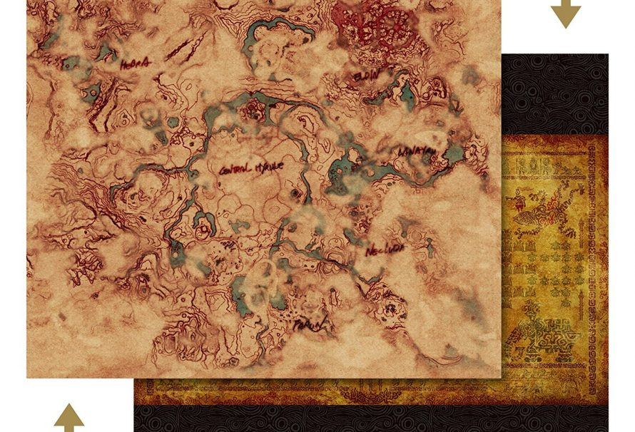 Amazon Japan Posts Closer Look At Zelda: Breath of the Wild Map on