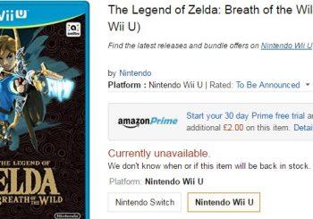 Zelda Wii U 'Currently Unavailable' At Amazon UK