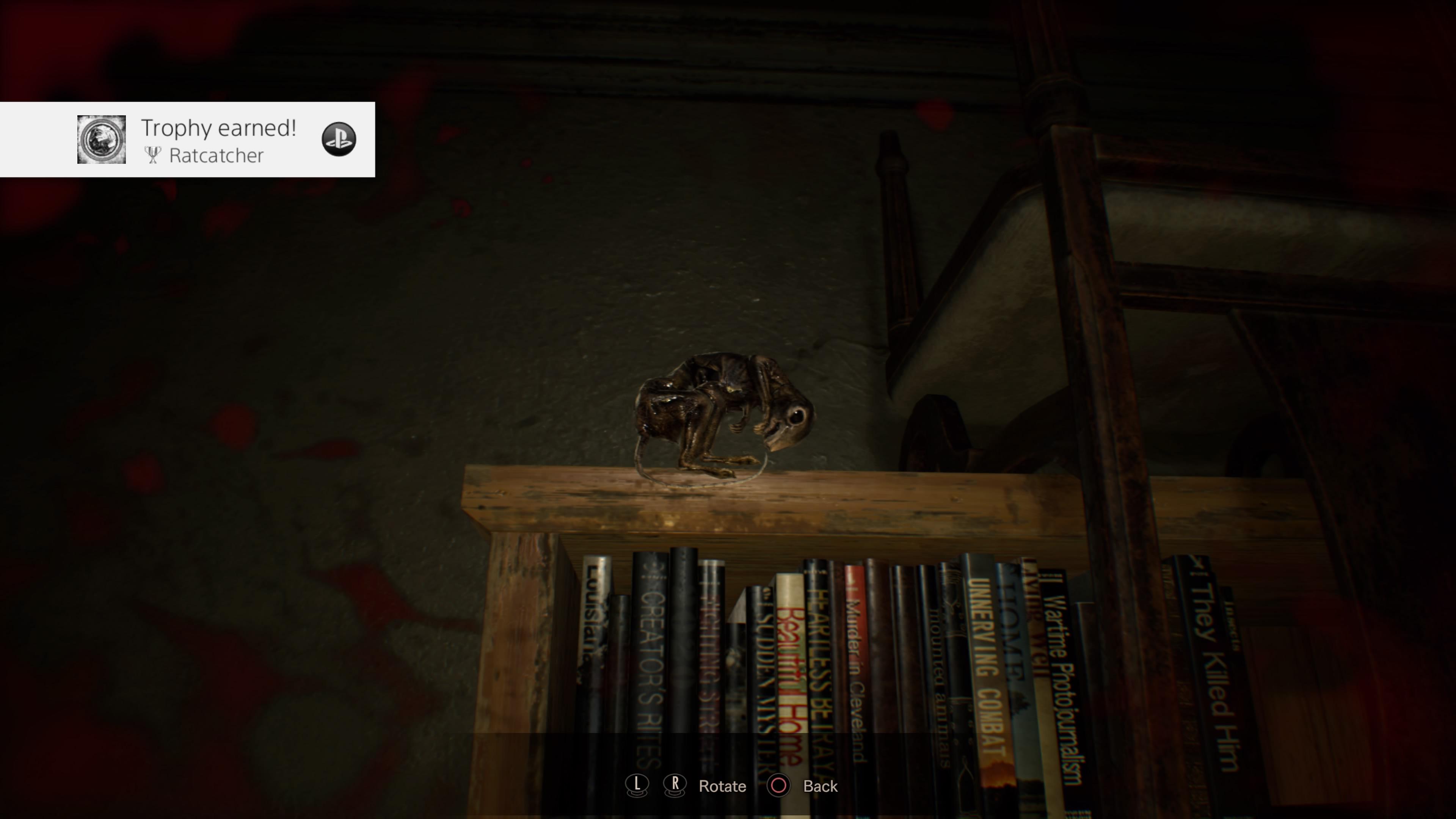 Resident Evil 7 Bedroom Dlc Acquiring The Ratcatcher Trophy Achievement Just Push Start