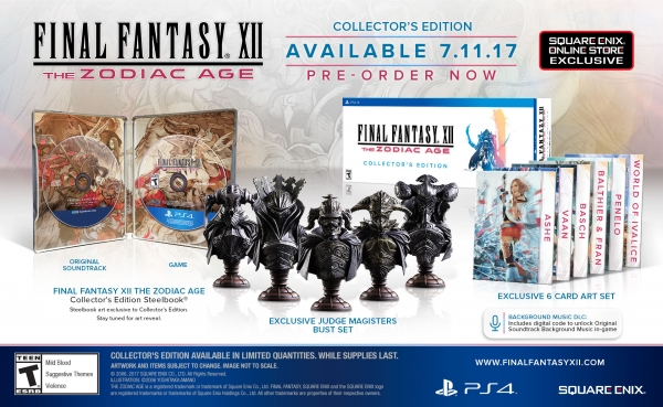 Final Fantasy XII: The Zodiac Age Getting Multiple Special Editions