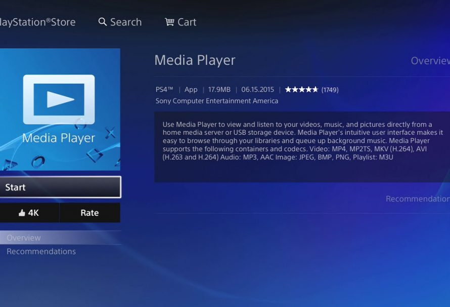vebos ps4 pro  Media Player Getting Update To Support 4K Videos On PS4 Pro - Just ...