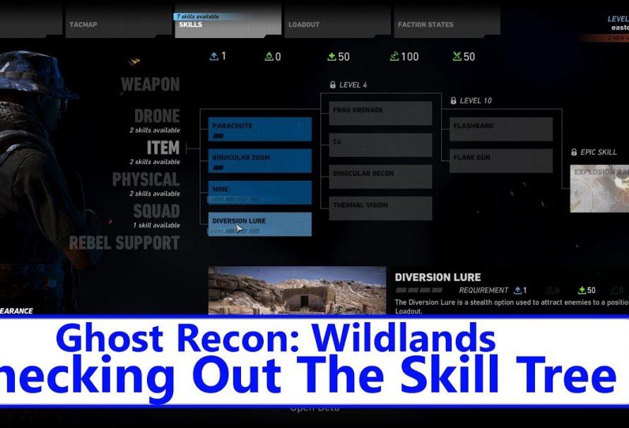 Tom Clancy's Ghost Recon: Wildlands – The Skill Tree