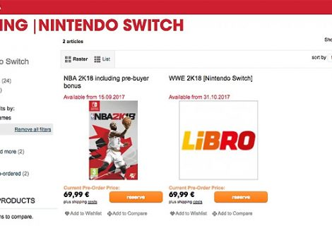 Retailer Lists WWE 2K18 Will Be Available For Nintendo Switch