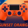 Sony Announces A New Sunset Orange Colored DualShock 4 Controller