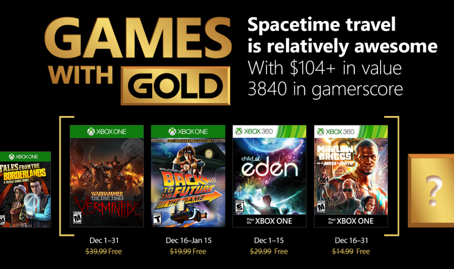 Xbox Games with Gold Lineup Announced For December 2017