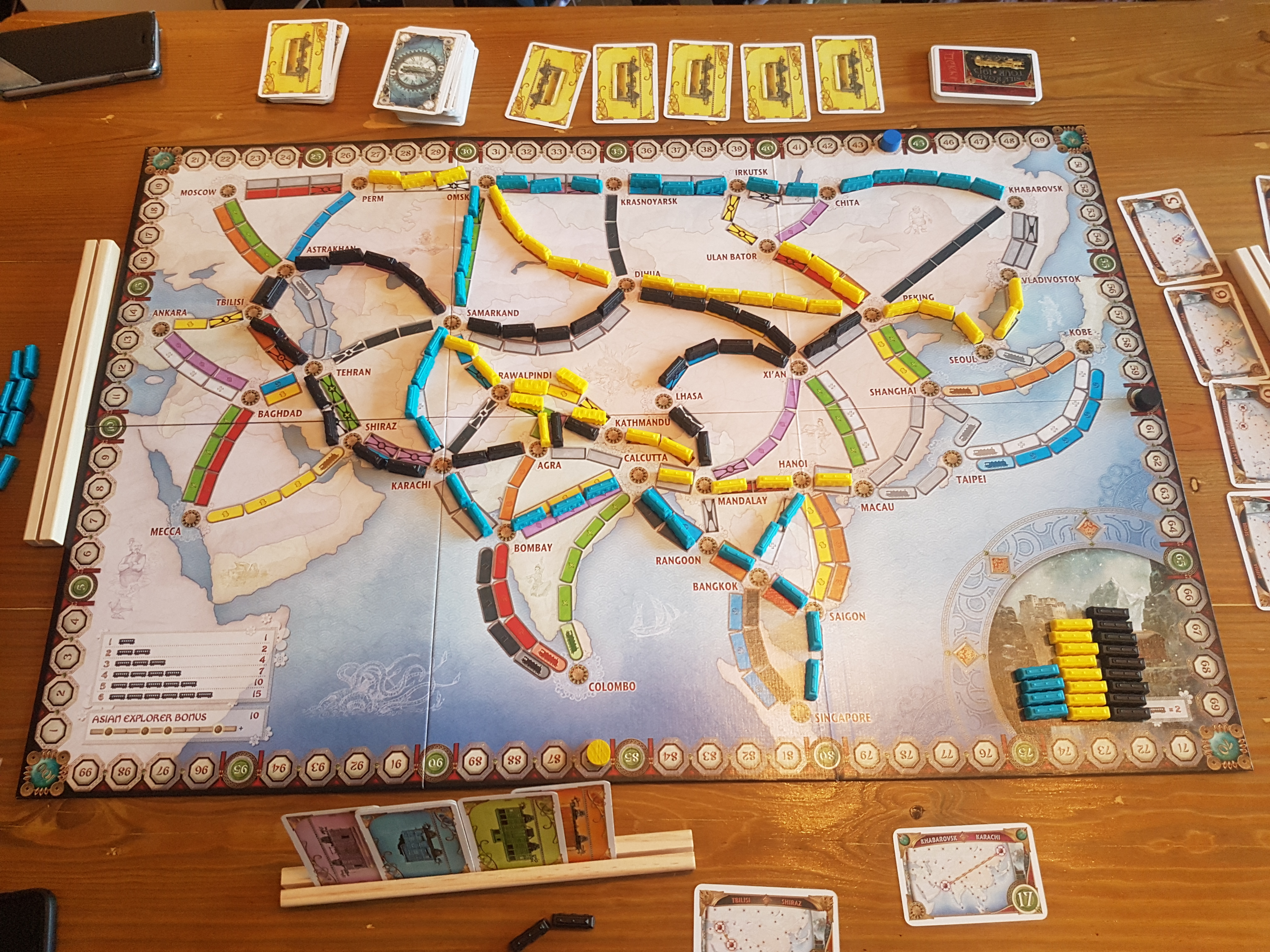 Map Of Asia Review Game.Ticket To Ride Asia Review To Team Or Not To Team Just Push Start